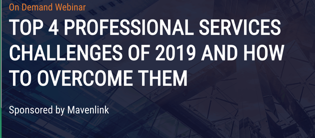 Top 4 Professional Services Chanllenges of 2019